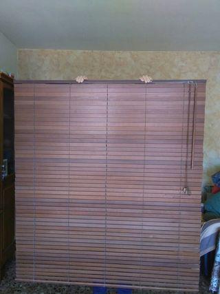cortina persiana madera