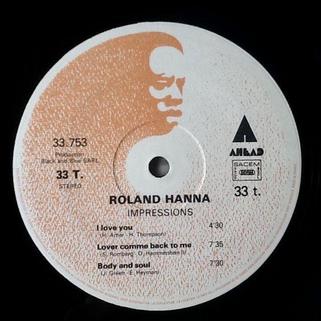 "ROLAND HANNA ""IMPRESSIONS"" LP"