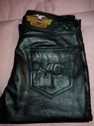 Pantalón de cuero Harley Davidson