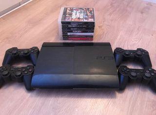 Play Station 3 500 Gb + juegos y mandos // PS3