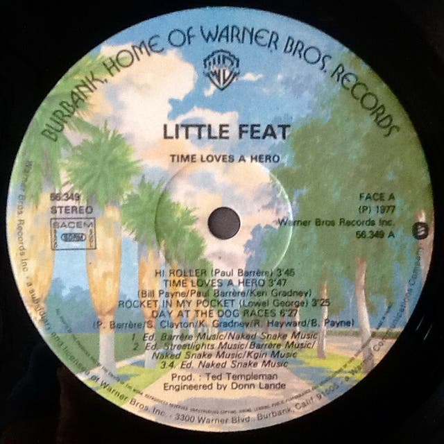 """LITTLE FEAT """"TIME LOVES A HERO"""" LP"""