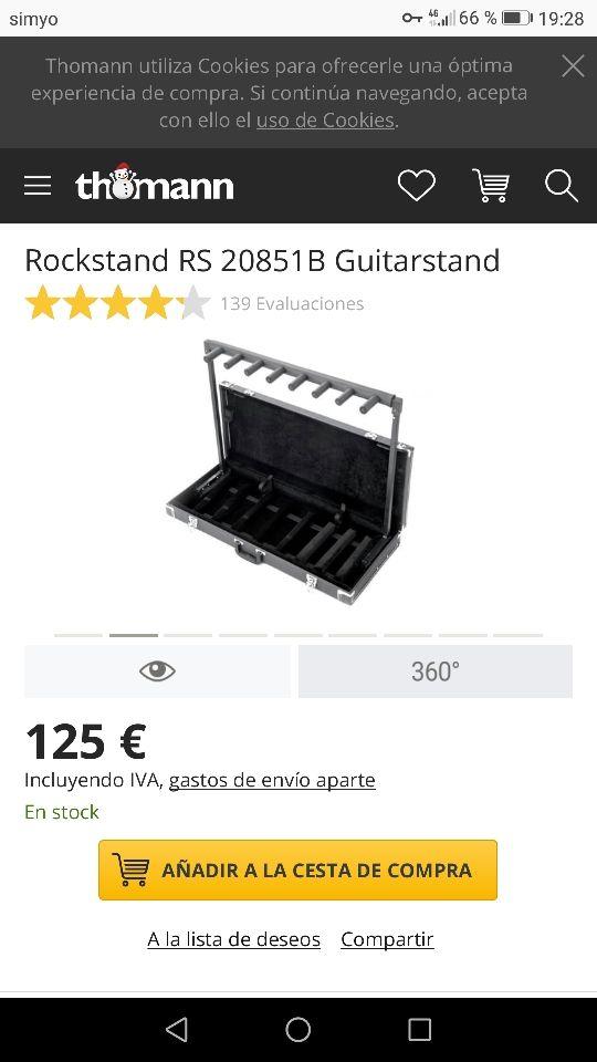 Atril soporte guitarras