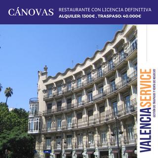 Traspaso Espectacular Restaurante en Cánovas