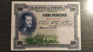 BILLETE 100 PESETAS 1925