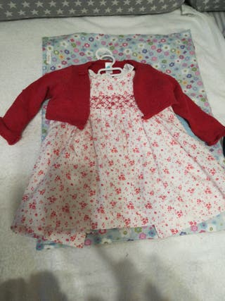 vestido bebe talla 18
