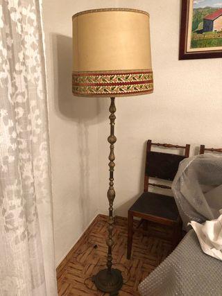 Lámpara de pie bronce