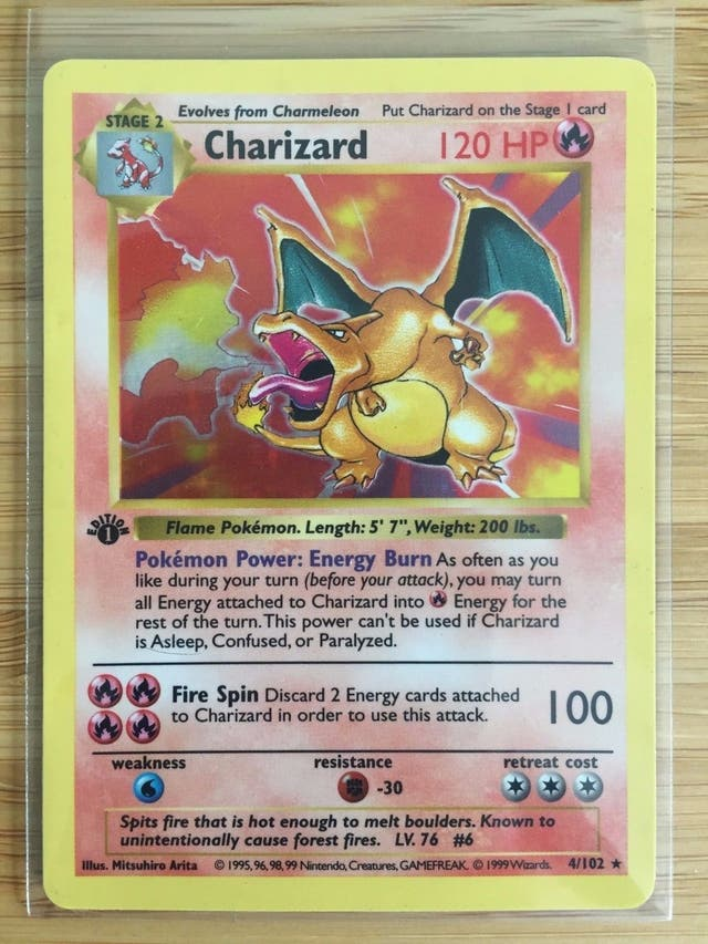 Charizard 1st edition shadowless