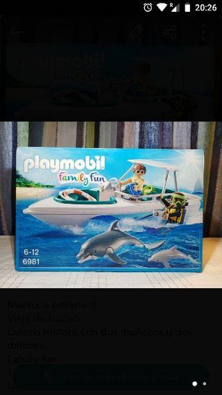 Nuevo Playmobil Lancha / barca