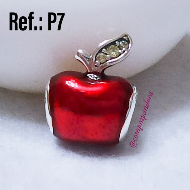 P7. Charm en PLATA Manzana de Blancanieves