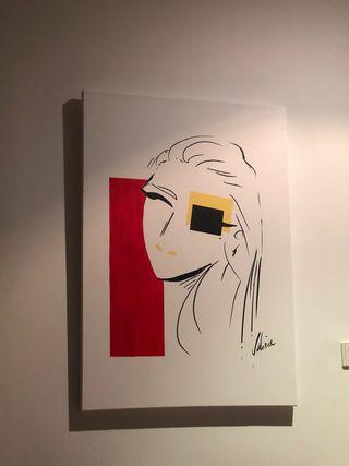 Cuadro contemporáneo Sylvia n°5