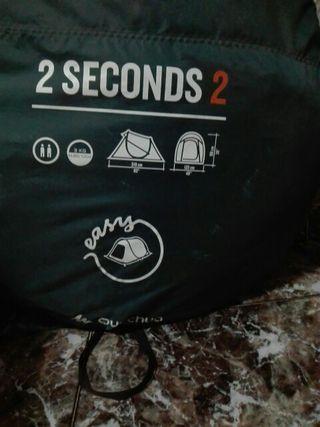 tienda de campaña 2 seconds