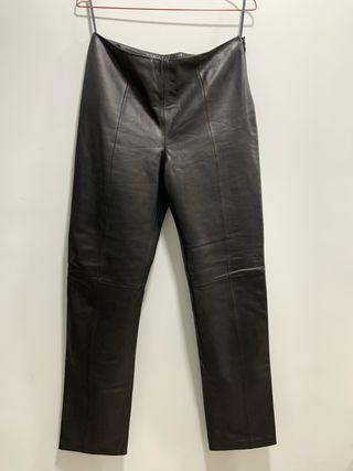 Pantalon piel LOEWE T.40 negro