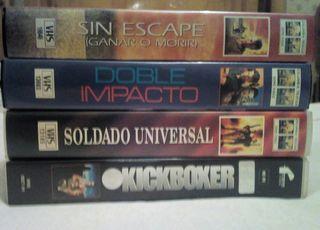4 VHS Van Damme