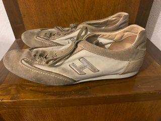 Zapatillas hombre lujo de Hogan ante y tela gris