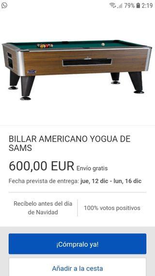 MESA DE BILLAR NUEVA