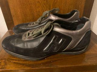 Zapatillas hombre Hogan negras ante y cuero