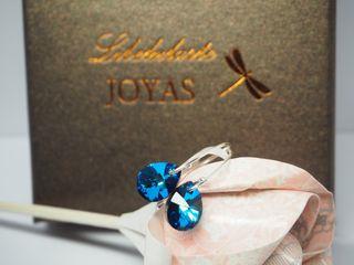 Pendientes de plata y cristal de Swarovski