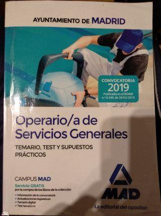 Operario Servicios Generales del Ayto. Madrid
