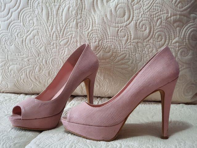Zapatos rosas tacon