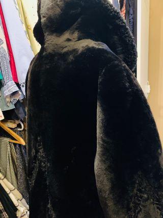 Abrigo de Mouton y astracán , oversize