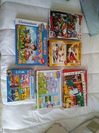 puzzles infantiles niños de 3 a 7 años.