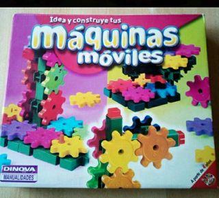 Lote puzzle y juego máquinas móviles