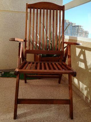 Silla madera reclinable