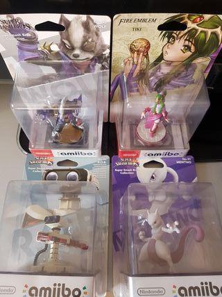 Pack 4 Amiibos Wolf Tiki Mewtwo Rob