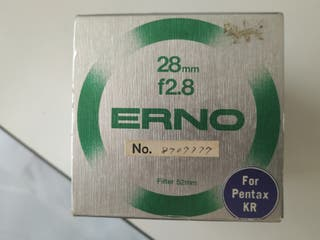 OBJETIVO ERNO 28 MM 2,8 MACRO PARA PENTAX KR.