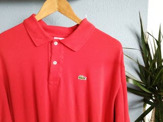 Mens Lacoste Red Polo
