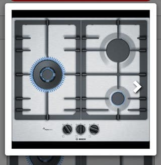 Placa de gas Bosch nueva