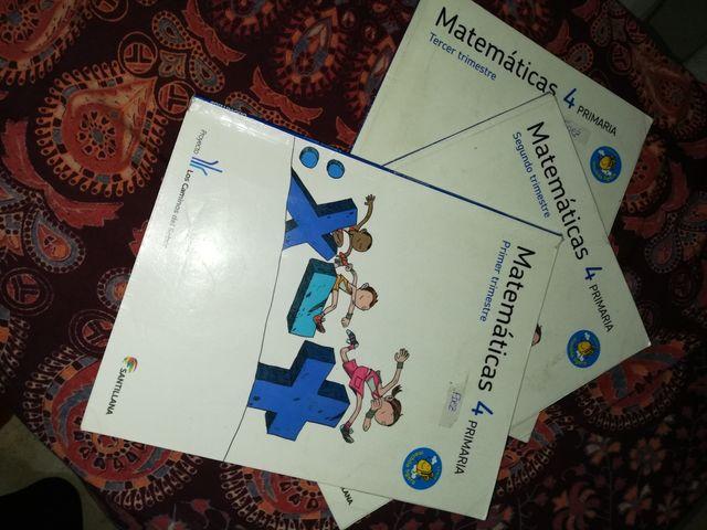 matemáticas cuarto. libros primaria