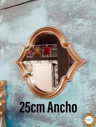 Espejo Dorado Artdeco 25cm Ancho