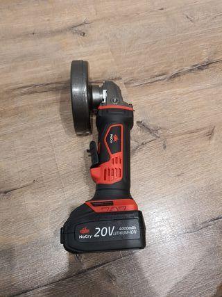 Radial a bateria 20V a estrenar con bolsa y discos