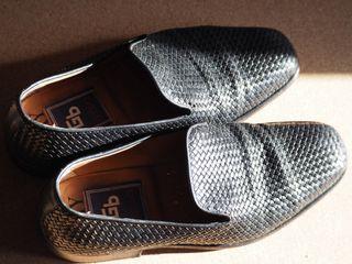 Zapatos negros piel trenzada