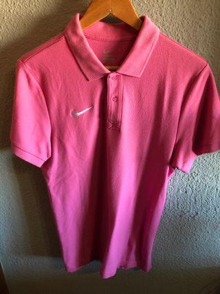 Polo Nike Rosa, Hombre, Talla S, Perfecto Estado