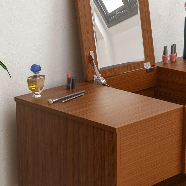 Tocador Plegable Taburete Dormitorio Maquillaje Va