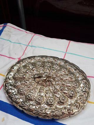 espejo de tocador plata