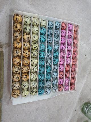 lote bolas de bingo antiguas