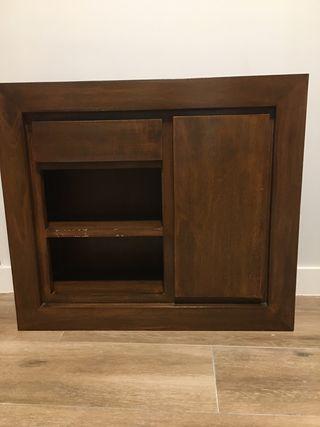 Mueble auxiliar para colgar Banak marrón oscuro