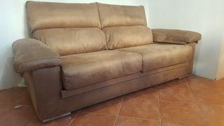 sofá acabado alcantara/imitacion piel