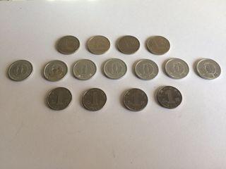 Lote monedas ASIA (China, Tailandia y Japón)