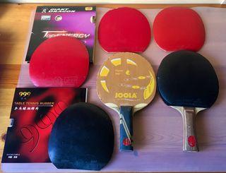 Raquetas Ping Pong (Tenis de mesa) y Raquetero