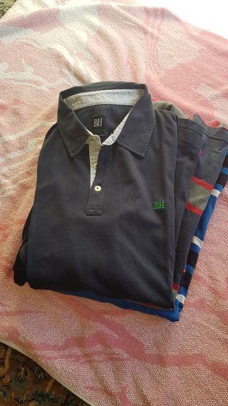camisas y camisetas .manga corta y larga