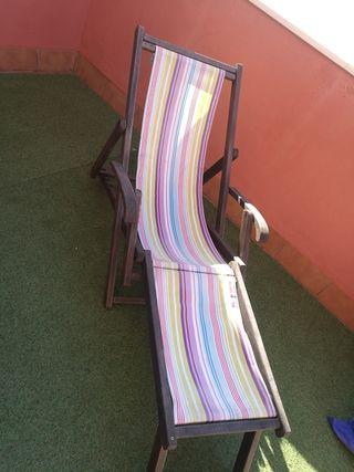 Silla reclinable de terraza y jardin