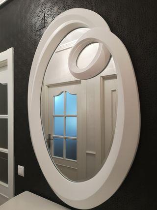 espejo schuller entradita o aparador lacado blanco