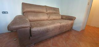 sofa extensible alcantara/piel
