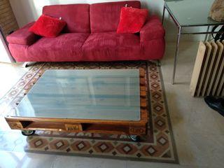 Sofá Diseño moderno color rojo