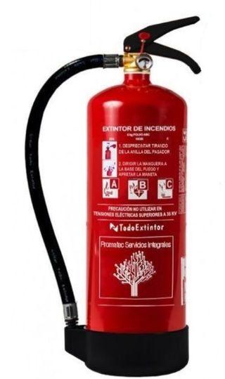 extintores polvo y CO2