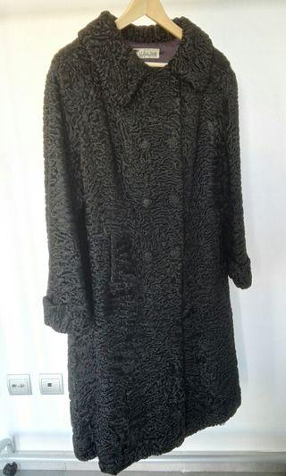 Abrigo piel astracán vintage